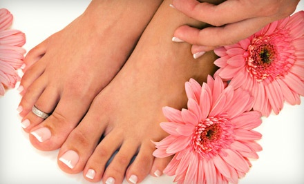 1 One-Hour Mani-Pedi and One Take-Home Bottle of Orly Nail Lacquer (a $69 value) - Salon 755 in Woodbury