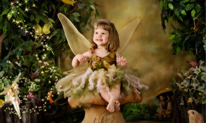 "Elcheshen's Photography Studio - Central St. Boniface: $54 for a Children's Fairy-Tale Portrait Session and an 8""x10"" Float Wrap at Elcheshen's Photography Studio ($208 Value)"
