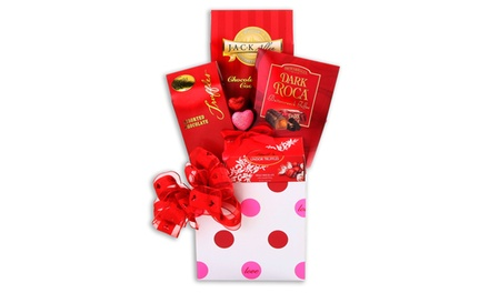 Chocolate Lover's Truffles, Cookies, and Candy Gift Basket (4-Piece)