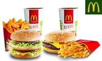 """2 menus Maxi Best Of™ au choix à 9,90 € """"à régler sur place"""" dans l'un des 6 McDonald's™ participants"""