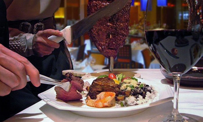 Taurinus Brazilian Steakhouse - Downtown San Jose: Rodizio Dinner for Two or Four with Wine and Dessert at Taurinus Brazilian Steakhouse (Up to 24% Off)