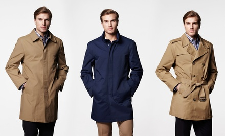 London Fog Men's Trench Coat or Raincoat. Multiple Styles Available.
