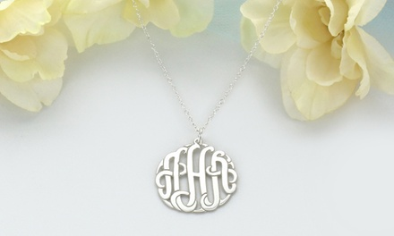 Sterling-Silver Monogram Pendant, Chain, or Both from ShopOnlineDeals (Up to 94% Off)