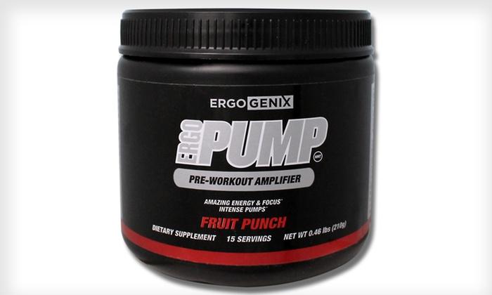 ErgoPump NMT Preworkout Amplifier: ErgoPump NMT Preworkout Amplifier 15-Serving Container in Fruit Punch. Free Shipping.