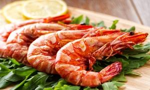 Vino y Mar: Gambas All-you-can-eat inkl. Brot, Aioli und Crema Catalana für 2 oder 4 Personen bei Vino y Mar (bis zu 68% sparen*)