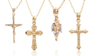 14K Solid Gold Religious Charm Necklace at 14K Solid Gold Religious Charm Necklace, plus 9.0% Cash Back from Ebates.