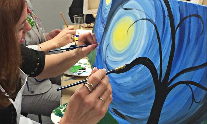 Hot Fired Arts - Frederick: Canvas Painting Class for One or Two at Hot Fired Arts (38% Off)