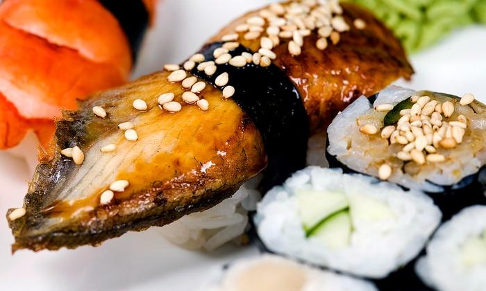 Tsunami Sushi - Huntington Beach: Sushi, Japanese Cuisine, and Drinks at Tsunami Sushi (Up to 47% Off). Three Options Available.