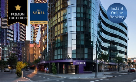 Melbourne: Two- or Three-Night Stay for Two or Four People with Breakfast and Wine at The Sebel Melbourne Docklands