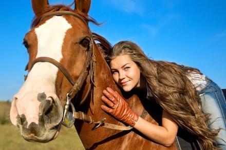$66 for $140 Worth of Horseback Riding  True Heart Equine Enrichment