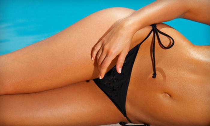 Glow Sunfree Tanning and Waxing - Oakley: One Airbrush Tan with Optional Eyebrow, Bikini, or Brazilian Wax at Glow Sunfree Tanning and Waxing (Up to Half Off)