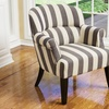 Drew Dark Blue Striped Accent Armchair