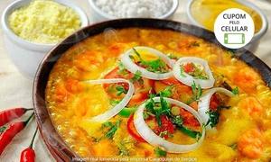 Caranguejo de Sergipe - Barra: Caranguejo de Sergipe – Barra: moqueca de camarão ou peixe, com pirão, farofa e arroz para 2 pessoas
