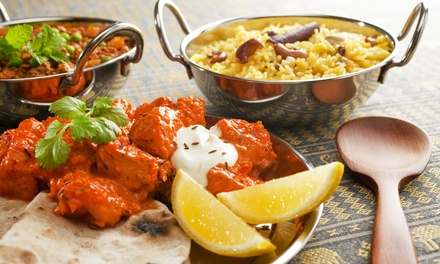 Indian Dinner Cuisine for Two, valid Sunday through Thursday (Up to 50% Off)