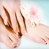 Up to 55% Off a Mani-Pedi at Glamour Center