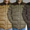 Leonine Men's New Classic Puffer Jacket with Faux Leather Trim