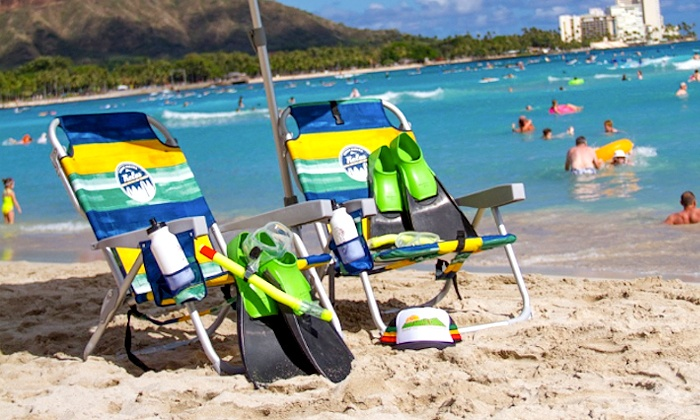 Big Wave Dave Surf Co. - Multiple Locations: $25 for Rental of Two Snorkels, One Umbrella, and Two Chairs from Big Wave Dave Surf Co. ($53 Value)