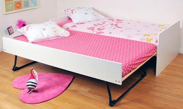 lit gigogne avec sommiers matelas en option groupon shopping. Black Bedroom Furniture Sets. Home Design Ideas