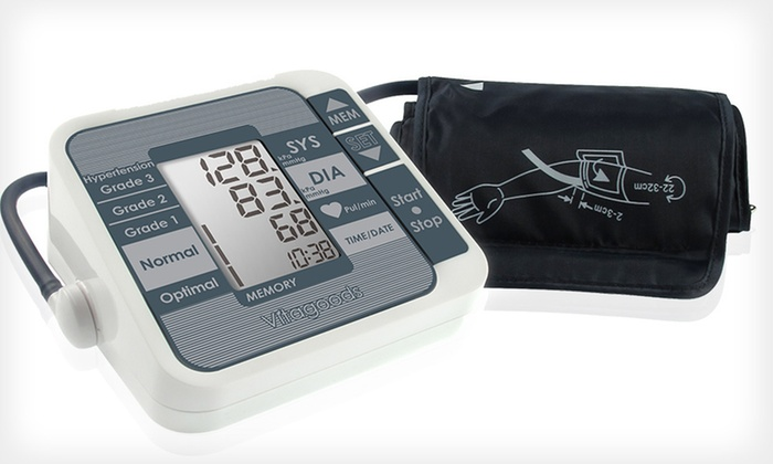 Portable Blood-Pressure Monitor: $39 for a Portable Upper-Arm Blood-Pressure Monitor ($125 List Price). Free Shipping and Free Returns.