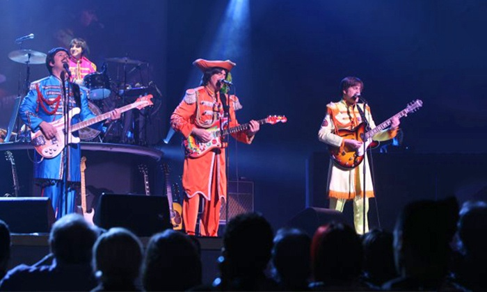 """Rain: A Tribute To The Beatles - Palace Theatre : """"Rain: A Tribute to the Beatles"""" at Palace Theatre on Friday, April 4 at 8 p.m. (Up to 52% Off)"""