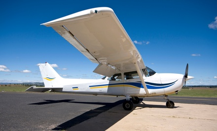 $125 for a 60-Minute Flight Lesson Plus Video from Burlington Aviation ($250 Value)