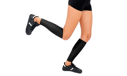 Athletic Compression Leg Support Sleeves in Black