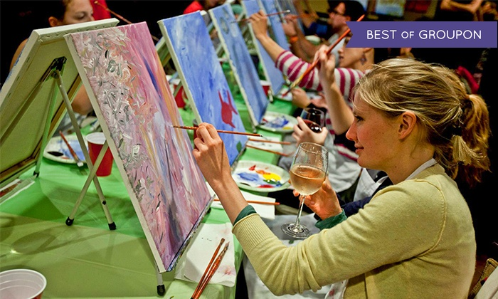 Paint Nite NYC - New York City: One, Two, or Four Groupons, Each Good for One Admission to a Painting Party from Paint Nite NYC (Up to 47% Off)
