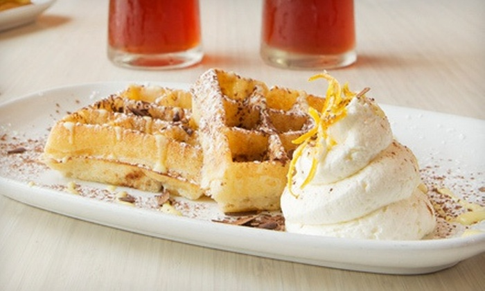 Waffles - Chicago: $19 for Brunch for Two with Milkshakes, Iced Tea, or Fresh-Squeezed Orange Juice at Waffles (Up to $36.90 Value)