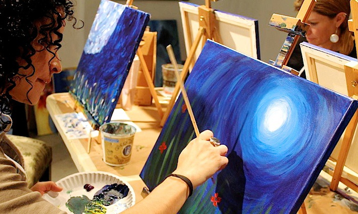 Painting Soiree on Santa Fe - Lincoln Park: Three-Hour Painting Workshop for Two or Four at Painting Soiree on Santa Fe (Up to 41% Off)