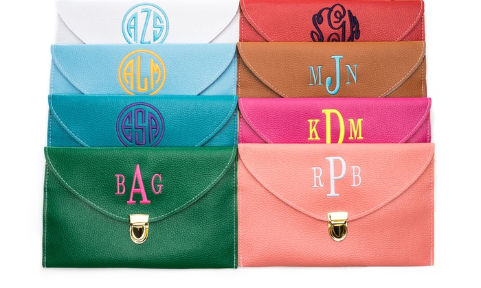 Luce Mia: $17.50 for One Personalized Monogram Clutch Bag from Luce Mia ($50 Value)