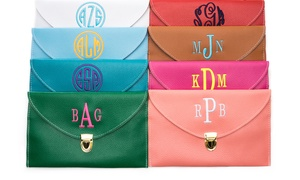 $17.50 For One Personalized Monogram Clutch Bag From Luce Mia ($50 Value)