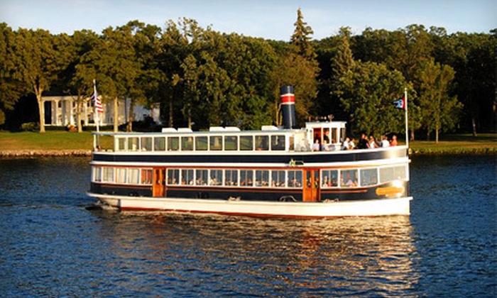 Lake Geneva Cruise Line - Lake Geneva: $11.50 for a One-Hour Geneva Bay Boat Tour for One from Lake Geneva Cruise Line (Up to $23 Value)