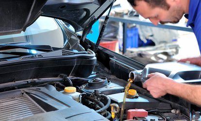 One Conventional, Synthetic Blend, or Full Synthetic <strong>Oil Change</strong> at Meineke Car Care Center (Up to 50% Off)