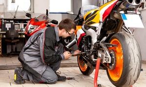 Mtnmotosport: Tagliando per moto o scooter di tutte le cilindrate o in più sostituzione freni anteriori (sconto fino a 87%)