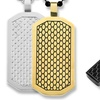 Men's Cross or Dog Tag Pendant with Honeycomb Details