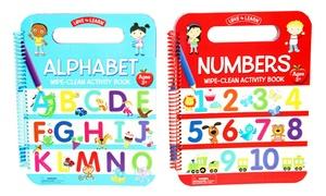 Alphabet & Numbers Wipe-Clean Activity Book Set