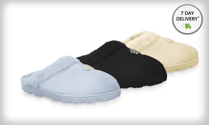 Muk Luk Women's Faux-Suede Clog Slippers: Muk Luk Women's Faux-Suede Clogs with Faux-Fur Lining. Multiple Colors Available. Free Returns.
