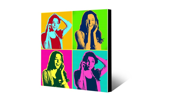 "Canvas Champ: 8""x8"", 16""x20"", or 20""x30"" Warhol-Style Canvas Print from CanvasChamp (Up to 88% Off)"