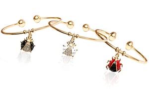Ladybug Charm Cuffs With Swarovski Elements