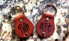 LilyDeal: One, Two, or Four Monogrammed-Leather Key Chains from LilyDeal (Up to 67% Off)