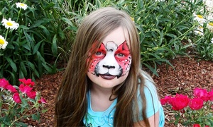 AmaDazzle Arts: $89 for a Face-Painting Package with Glitter Tattoos for Up to 12 from AmaDazzle Arts ($180 Value)