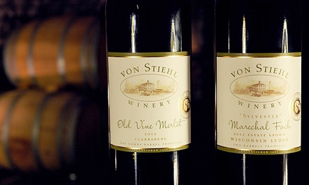 Wine Tasting for Two, Four, or Six, or One Ticket to BBQ Pairing on Nov. 8 at Von Stiehl Winery (Up to 54% Off)