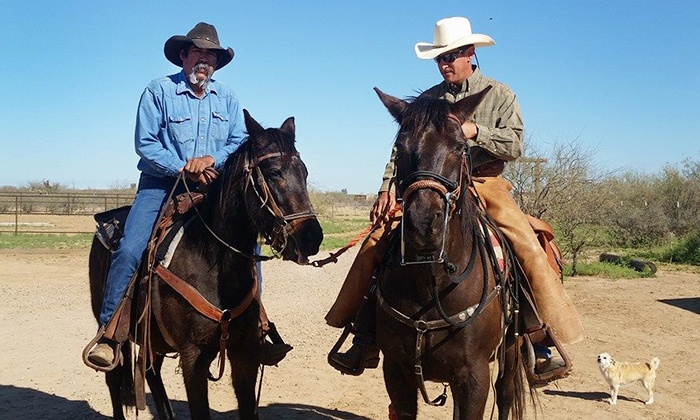 Double R Guest Ranch at Grapevine Canyon - Pearce: 60- or 90-Minute Horseback Trail Ride for Two at Double R Guest Ranch at Grapevine Canyon (Up to 42% Off)