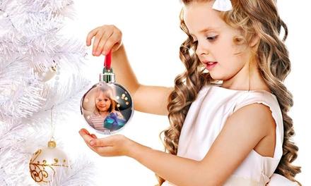 Pack de 3 ou 6 adereços de Natal personalizáveis com foto desde 9,90€