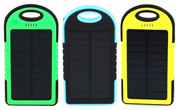 iPM 5,000mAh Waterproof Solar-Powered Flash Charger for Smartphones: iPM 5,000mAh Waterproof Solar-Powered Flash Charger for Smartphones