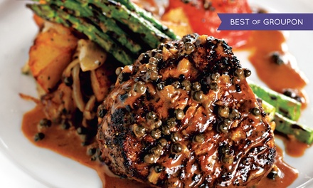 Steak-House Cuisine for Dinner or Brunch at Gaslight Grill (Up to 40% Off). Three Options Available.