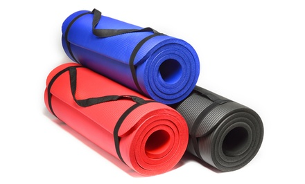 Sivan Extra-Thick NBR Yoga Mat in Black, Blue, or Red. Free Returns.