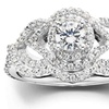 1 CTTW Diamond Intertwined Engagement Matching Wedding Ring Set