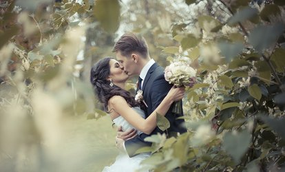 Five- or Ten-Hour Wedding Photography Package with White Lace Wedding Photography (Up to 64% Off)