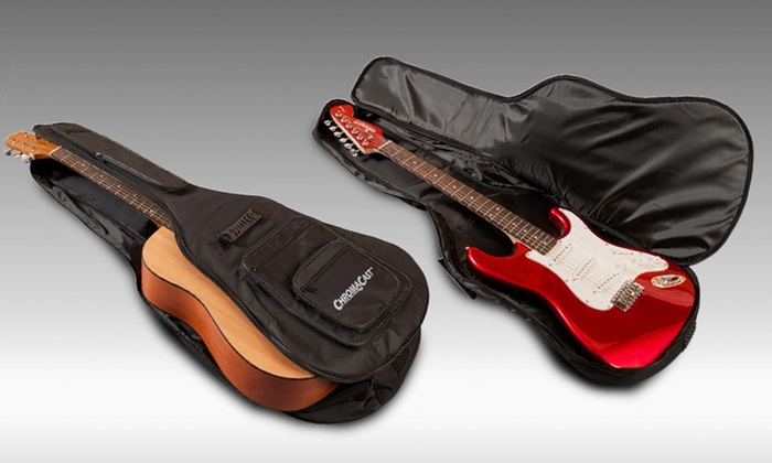 ChromaCast Guitar Gig Bag and Accessories Set: ChromaCast Electric or Acoustic Guitar Gig Bag with Strap and Clip-On Tuner. Free Shipping and Returns.